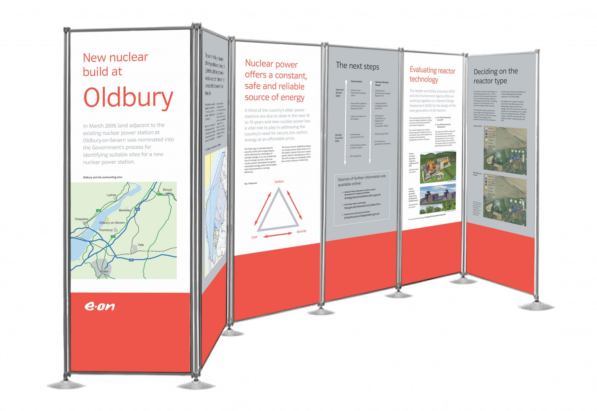 Graphic display panels for a public exhibition