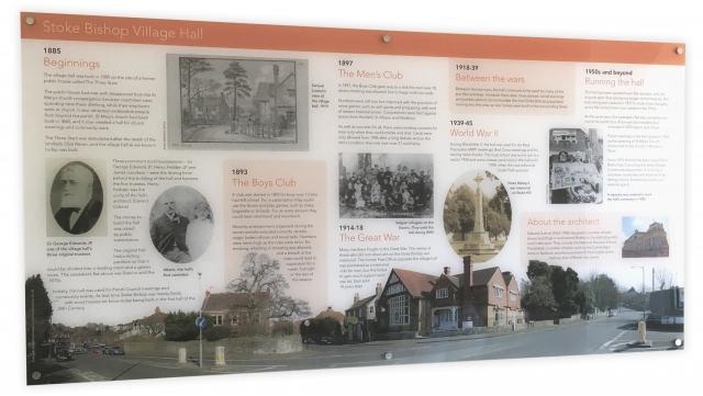 Wall-mounted acrylic interpretation graphic