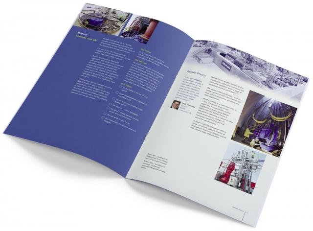 A4 company brochure designed for print