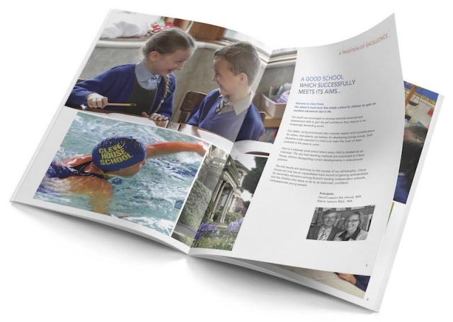 A4 school prospectus designed for print and PDF