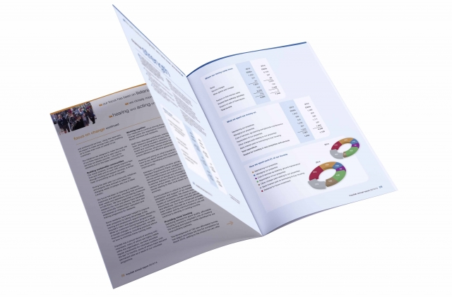 A4 annual report designed for print and PDF