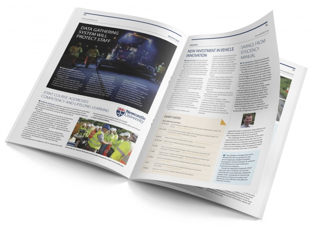 A4 trade magazine designed for print and PDF download