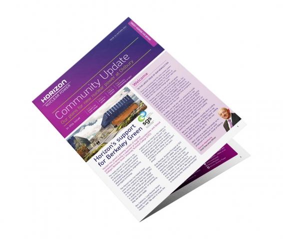 community newsletter designed for print