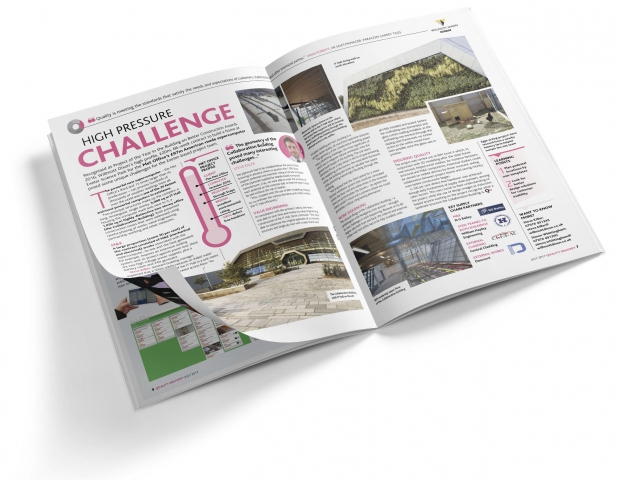 A4 business magazine designed for print and PDF download
