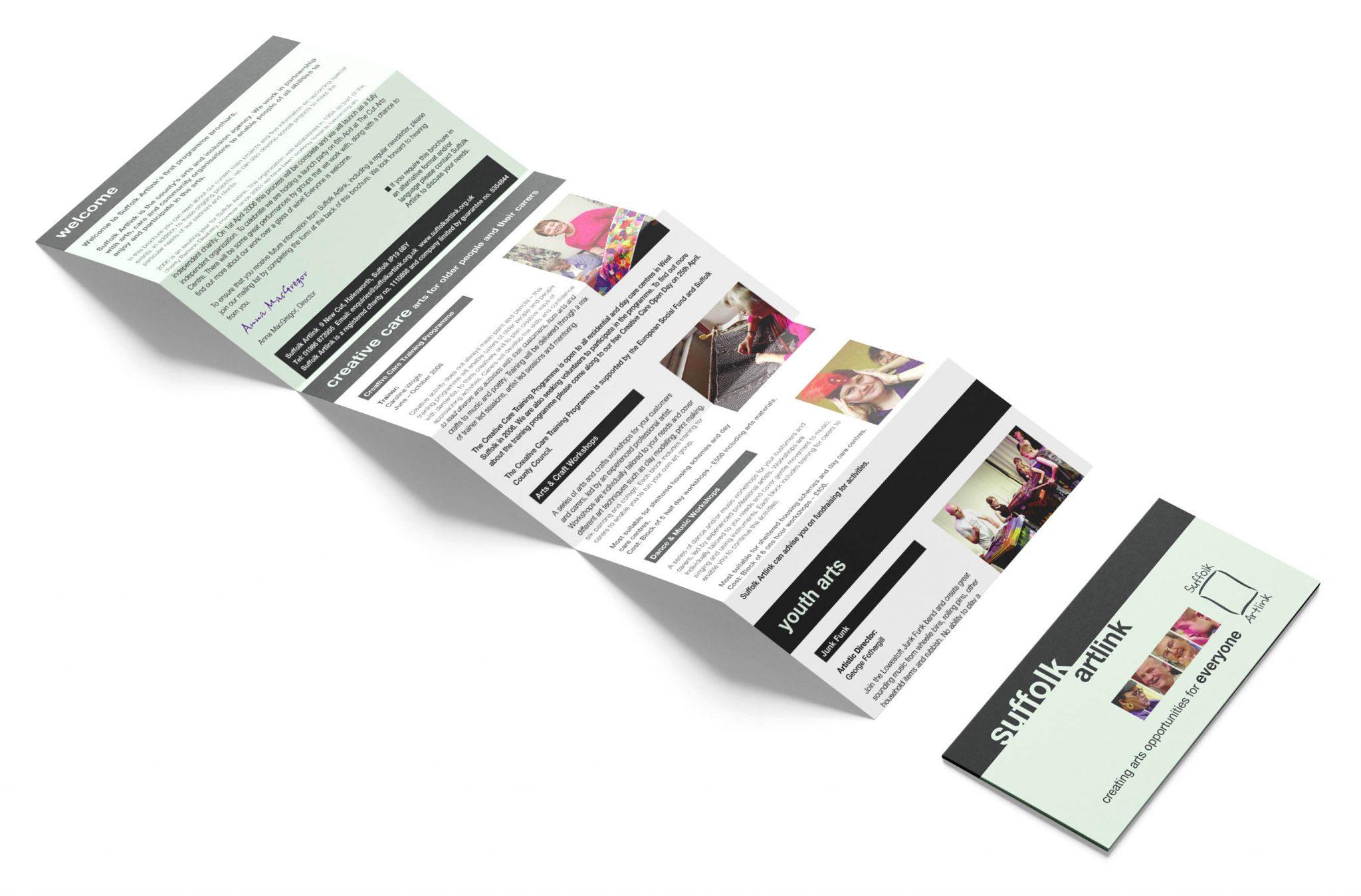 Multi-fold DL size leaflet for print